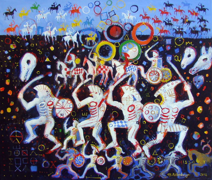 """Painting titled """"Olympic dance"""" by Martin Kellenberger, Original Art, Acrylic"""