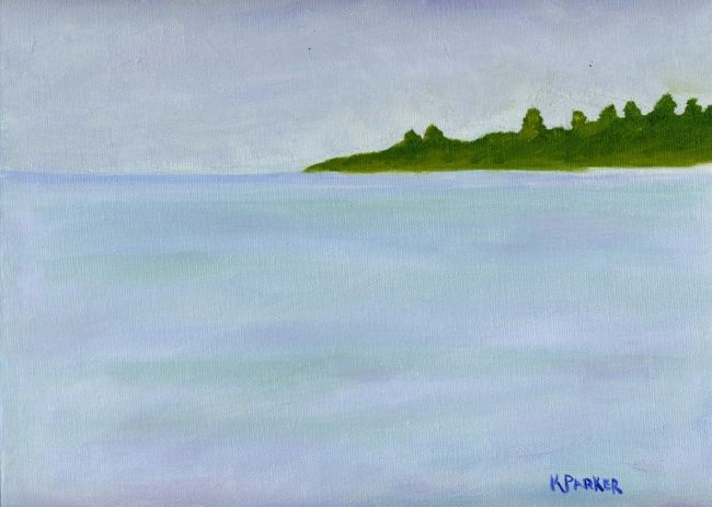"""Painting titled """"Beach 1"""" by Kelly Parker, Original Art, Oil"""