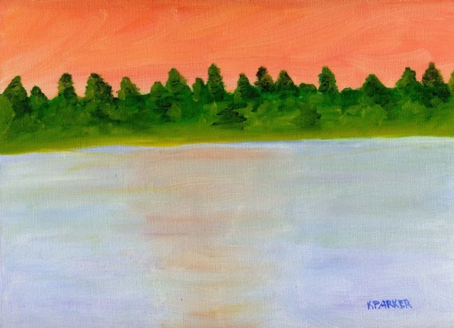 """Painting titled """"Beach 2"""" by Kelly Parker, Original Art, Oil"""
