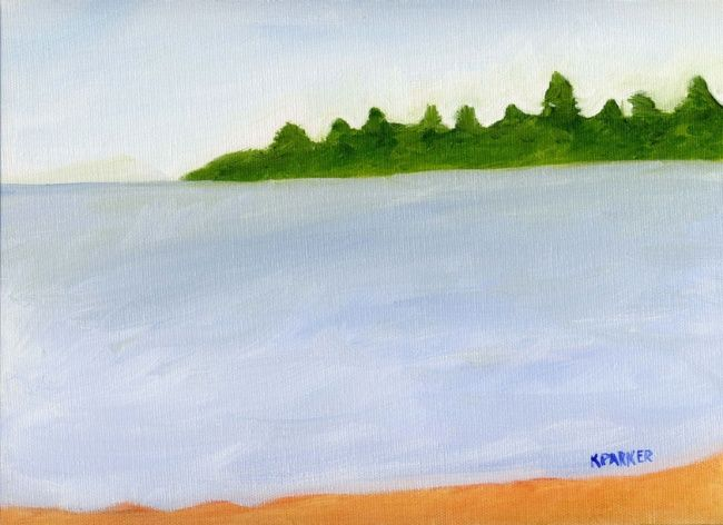 """Painting titled """"Beach 3"""" by Kelly Parker, Original Art, Oil"""