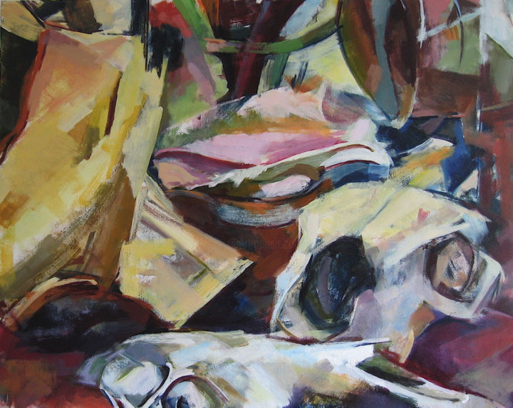 """Painting titled """"Still Life 9"""" by Ken Dawson, Original Art, Oil Mounted on Stretcher frame"""