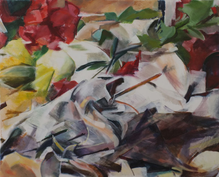 """Painting titled """"Still Life 18"""" by Ken Dawson, Original Art, Oil Mounted on Stretcher frame"""