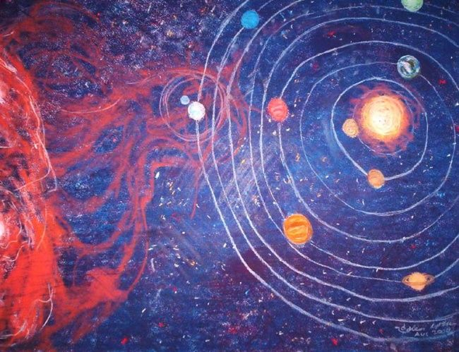 """Drawing titled """"The Universe Cools,…"""" by Kenneth Mckean, Original Art,"""