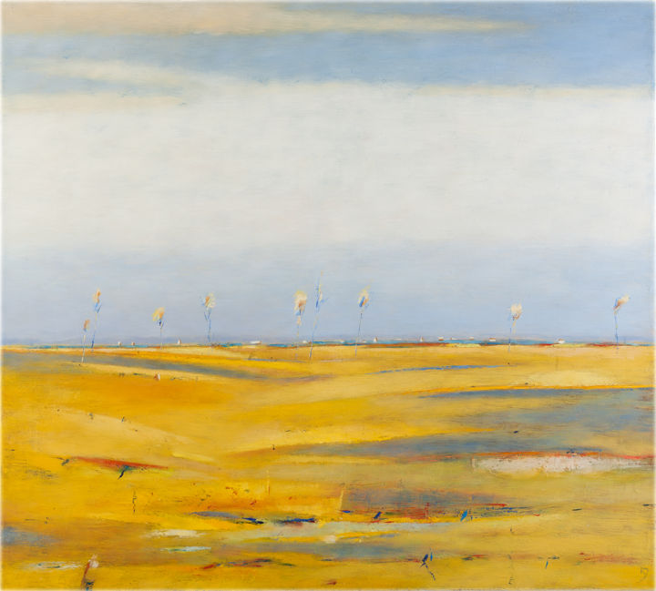 Landscape With Yellow Fields (Kestutis Jauniskis)