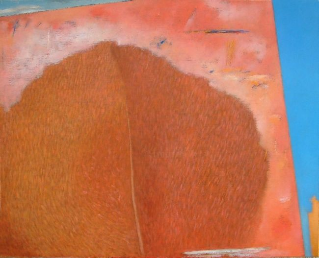 Red Tree - Painting,  27.6x34.3 in, ©2012 by Kestutis Jauniskis -                                                                                                                                                                                                                                                                                                                                                                                                                                                                                                                                                                                                                                                                              Abstract, abstract-570, colectible, kestutis jauniskis, oil painting, original, world, building, house, red, red tree, emotions, feelings, wall art