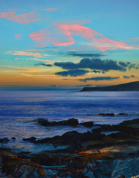 Seascape Painting, acrylic, figurative, artwork by Kevan Mcginty