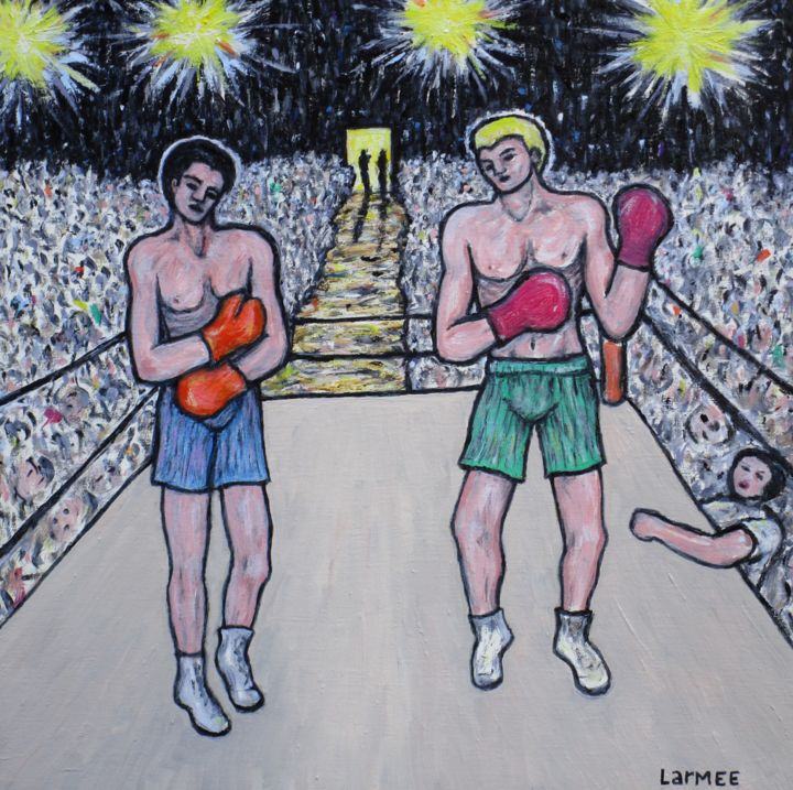 """Painting titled """"kevin-larmee-2-boxe…"""" by Kevin Larmee, Original Art, Oil"""