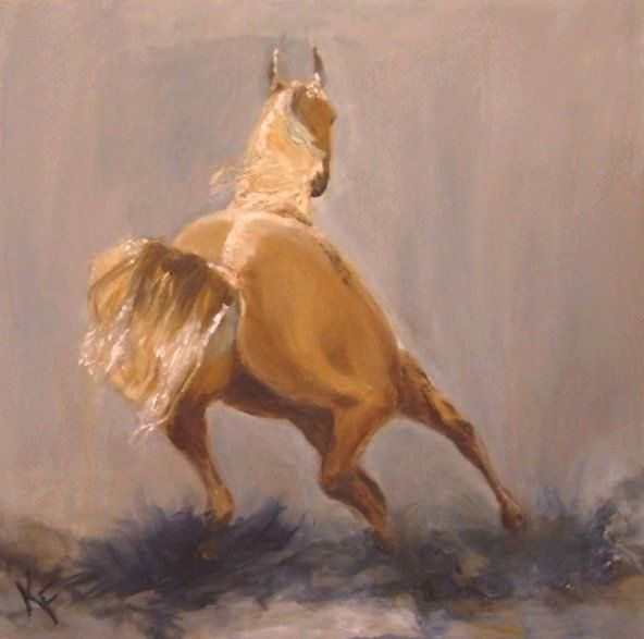 """Painting titled """"Speed, Strength and…"""" by Kathleen Farmer, Original Art, Oil"""