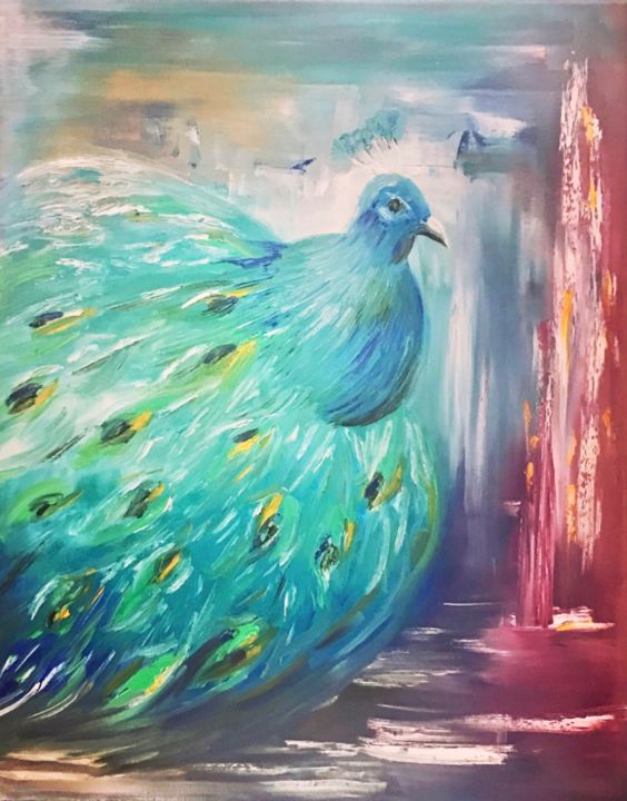 """Painting titled """"Peace in the eye"""" by Kholoud Androwis, Original Art, Oil"""