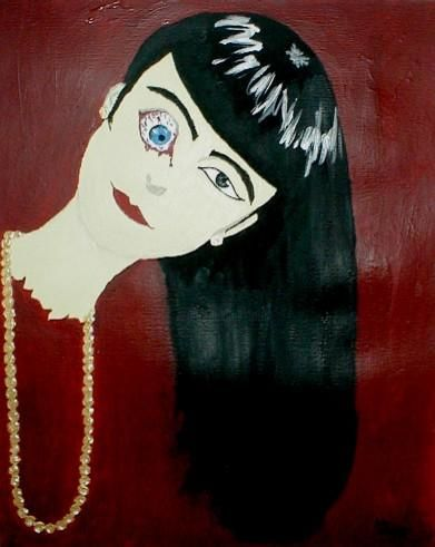 Almost Perfect - Painting, ©2003 by Kiki Poppies -                                                                                                                                                                          Expressionism, expressionism-591, female