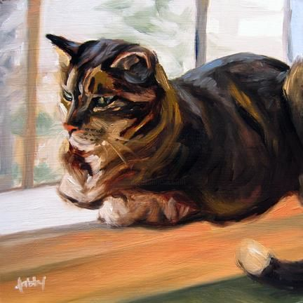 """Painting titled """"Contentment"""" by Kim Kibby, Original Art,"""