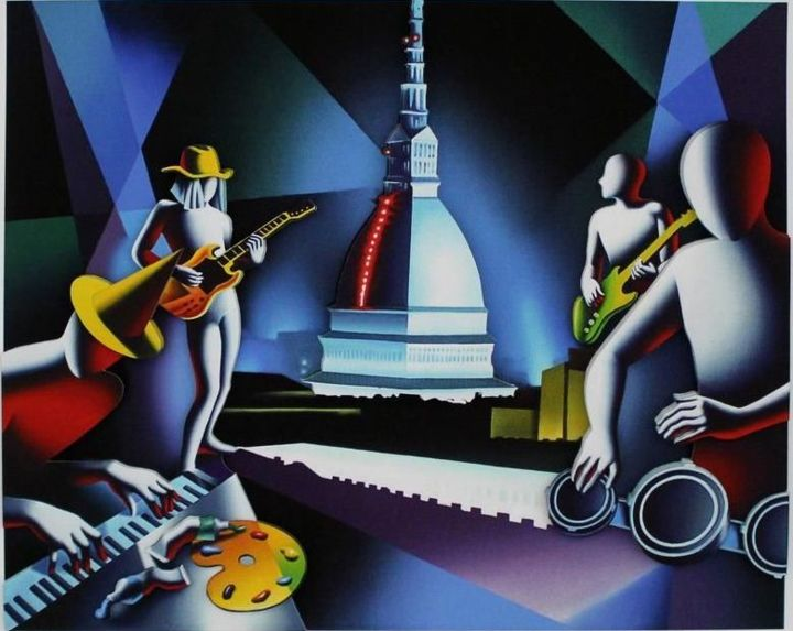 Mark Kostabi - Command Performance - Printmaking ©2015 by Kino Mistral -
