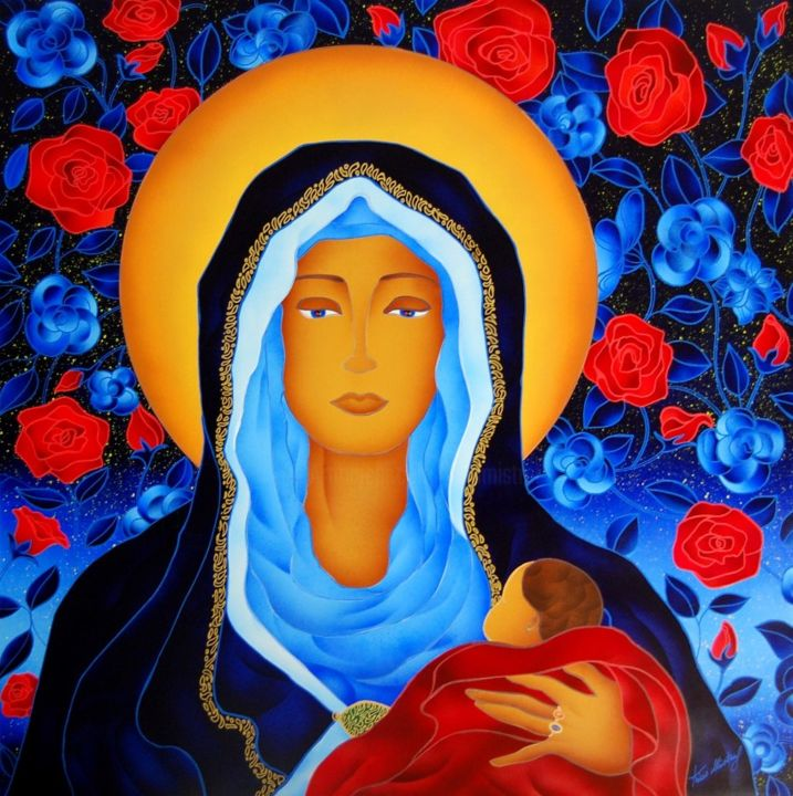 Madonna Delle Rose - Painting ©2015 by Kino Mistral -