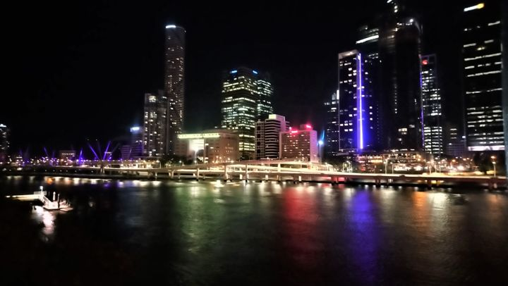 Brisbane by night - Photography, ©2020 by Christine Pons -