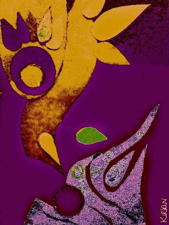 Akiméo Color - Digital Arts ©2018 by Kirlian -                                                                                                                    Abstract Art, Figurative Art, Illustration, Angels, Animals, Abstract Art, Colors, Light, Collage, Jazz Matisse, Kirlian Art