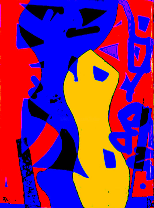 Callig - Digital Arts ©2015 by Kirlian -                                                                                Abstract Art, Art Deco, Fauvism, Abstract Art, Music, Matisse, Collage, Arp, Calligraphie, Miro