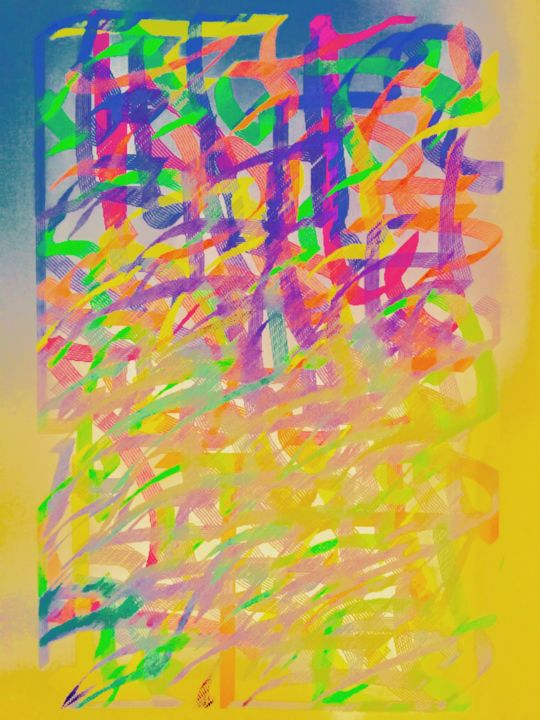 Calligraf - Digital Arts ©2018 by Kirlian -                                                                                                                                                        Abstract Art, Conceptual Art, Illustration, Contemporary painting, Architecture, Abstract Art, Outer Space, Colors, Light, Language, Classical mythology, Calligraphie, Calligraphie numérique, Ecriture, Arc en Ciel, Lumière, Spiritualité, Arabesque