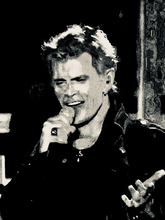 Billy Idol - © 2020 generation x, Billy Idol, Rock, Chanteur, Singer, Punk, Rock star, Punk-rock, Idol Œuvres-d'art en ligne