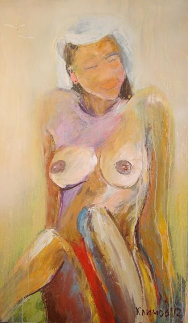 beachgirl 2 - Painting,  70x120 cm ©2012 by Klimov -                        Nude
