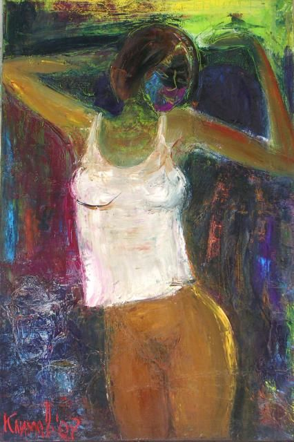 good morning - Painting,  90x135 cm ©2007 by Klimov -                        Nude