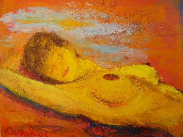 summer dream - Painting,  80x100 cm ©2008 by Klimov -                        Nude