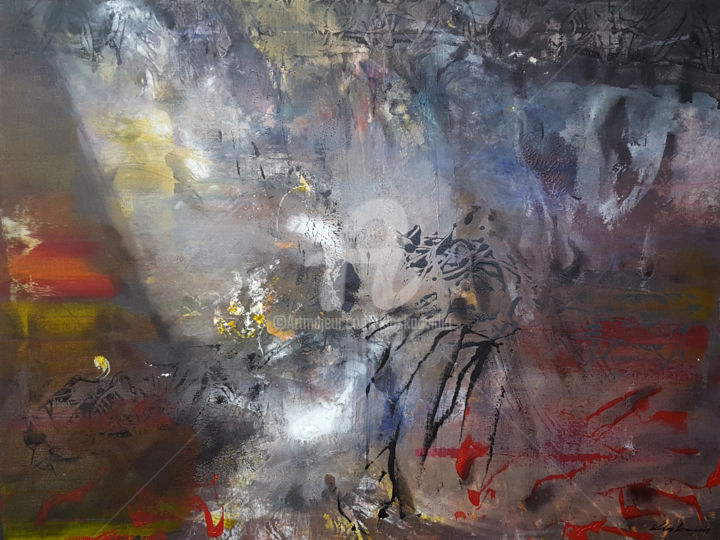 SIGNS OF MELANCHOLIA ONEIRIC PAINTING BY ROMANIAN - Painting,  60x80x2 cm ©2018 by Kloska Ovidiu -                                                                                                                                                                                    Abstract Art, Abstract Expressionism, Contemporary painting, Expressionism, Canvas, Abstract Art, Aerial, Colors, Culture, Landscape, Light, Outer Space, World Culture, ovidiu kloska, oneiric art, memory, silence, landscape, mindscape, spiritual, melancholia