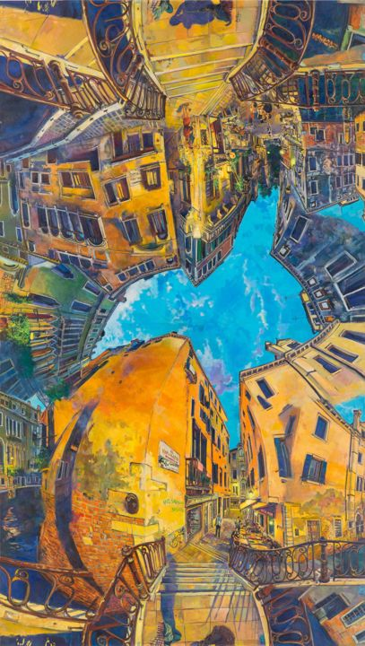 dancingwithshodows2c.jpg - Painting,  380x170x5 cm ©2018 by chin kong yee -                                        Contemporary painting, Canvas