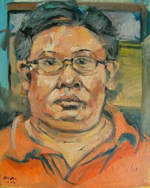 portrait of SAM - Painting, ©2002 by Chin Kong Yee -                                                                                                                          Figurative, figurative-594