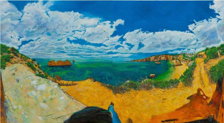 Lagos,Sea - Painting,  190x340 cm ©2010 by chin kong yee -                        Contemporary painting