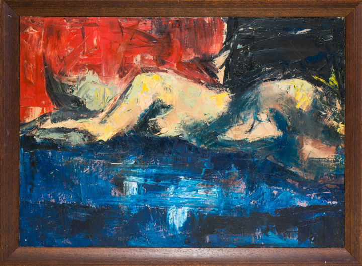 """Painting titled """"Woman"""" by Mihail Ivanov, Original Art, Oil Mounted on Wood Panel"""