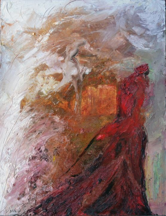 """Painting titled """"Dante (Quinto Canto)"""" by Mihail Ivanov, Original Art,"""