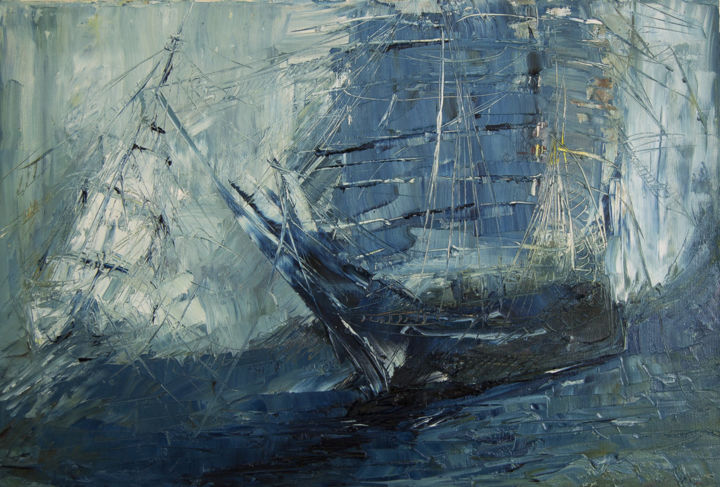 """Painting titled """"Ice Storm"""" by Mihail Ivanov, Original Art, Oil"""