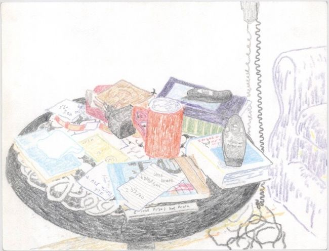 """Drawing titled """"table"""" by Petar Kosic, Original Art, Other"""
