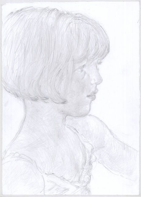 """Drawing titled """"Teodora"""" by Petar Kosic, Original Art, Other"""