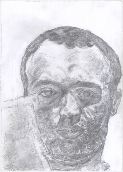"""Drawing titled """"self portrait"""" by Petar Kosic, Original Art, Other"""