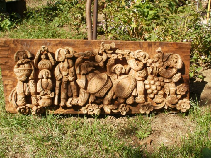 """Sculpture titled """"grape-collecting-1.…"""" by Koussevichkoussevich, Original Art,"""