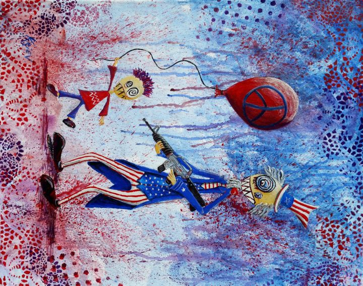 """Painting titled """"Independence Dead"""" by . Kriev, Original Art, Acrylic"""
