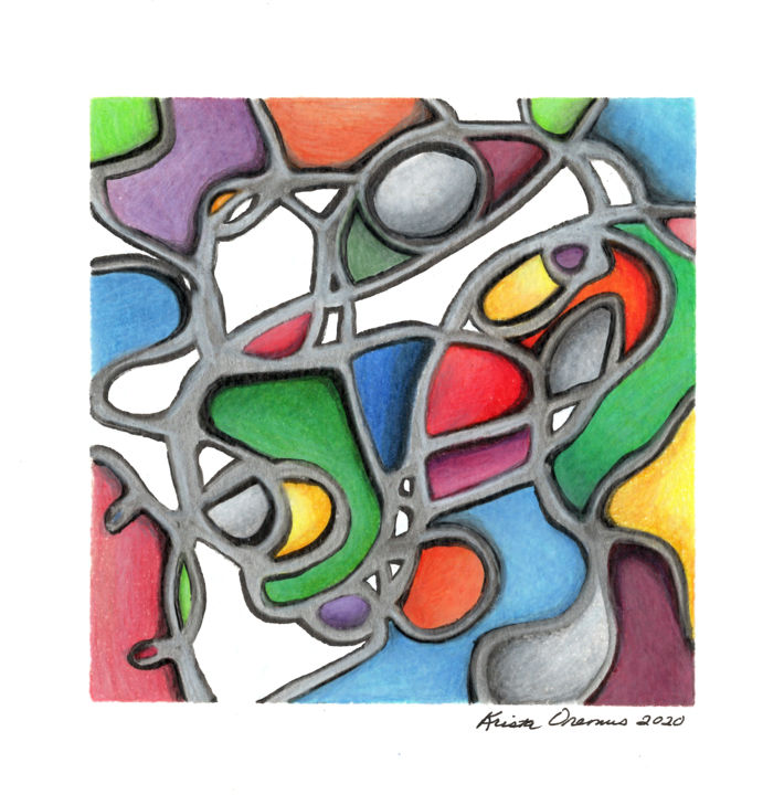 """Drawing titled """"Swiss Cheese"""" by Krista Oremus, Original Art, Pencil"""
