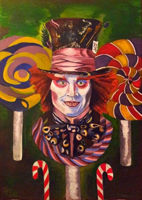 """Painting titled """"Mad Lollypop"""" by Krisztina Papp, Original Art,"""