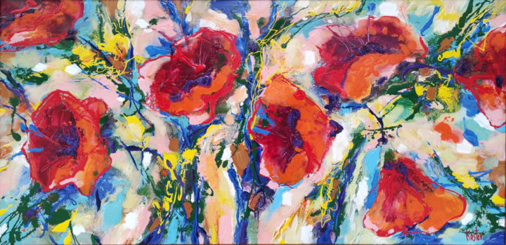 """Painting titled """"Poppies"""" by Krum Kostov - Maestro Online, Original Art, Acrylic Mounted on Stretcher frame"""