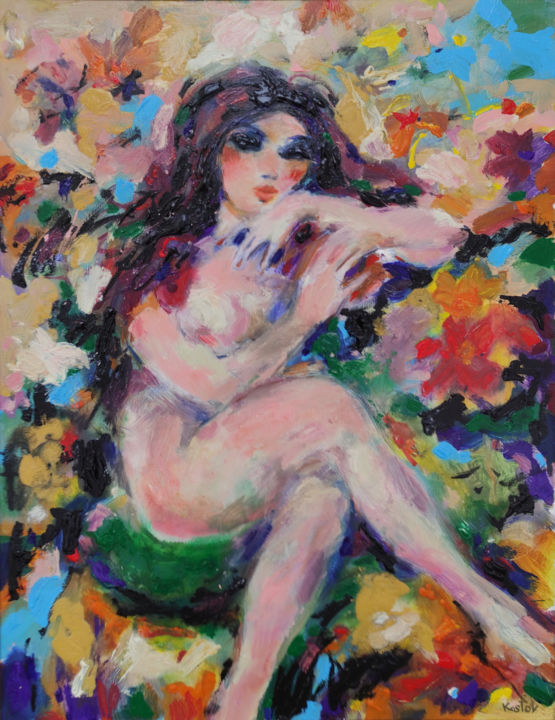 """Painting titled """"Relax"""" by Krum Kostov - Maestro Online, Original Art, Acrylic Mounted on Stretcher frame"""