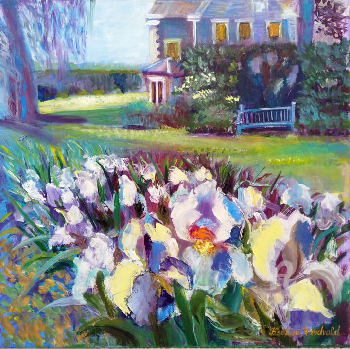 """Painting titled """"House with white ir…"""" by Kselma Randvald, Original Art, Oil"""