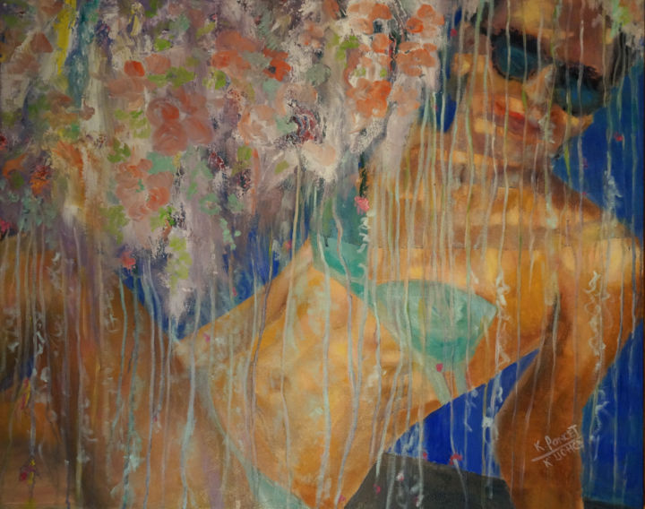 """Painting titled """"The Blast"""" by Ksenia Poncet, Original Art, Oil"""