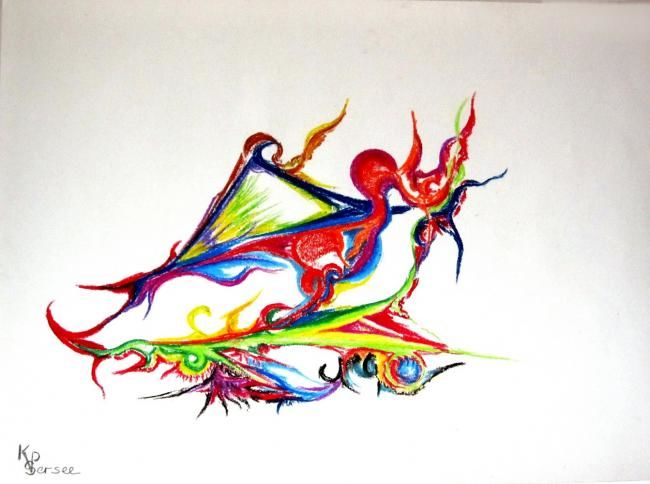 les ailes multicolores - Painting ©2011 by Kspersee -