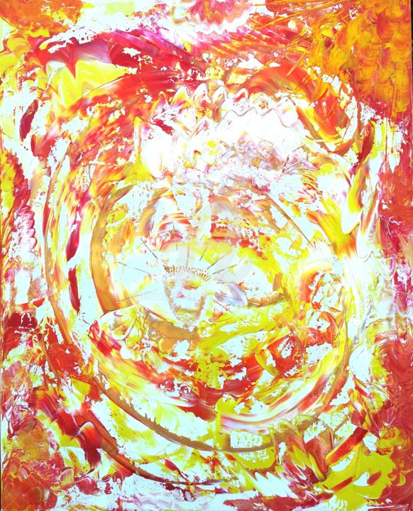 Divin - Painting,  31.5x39.4x0.6 in, ©2015 by K.ty -                                                                                                                                                                          Abstract, abstract-570, Spirituality