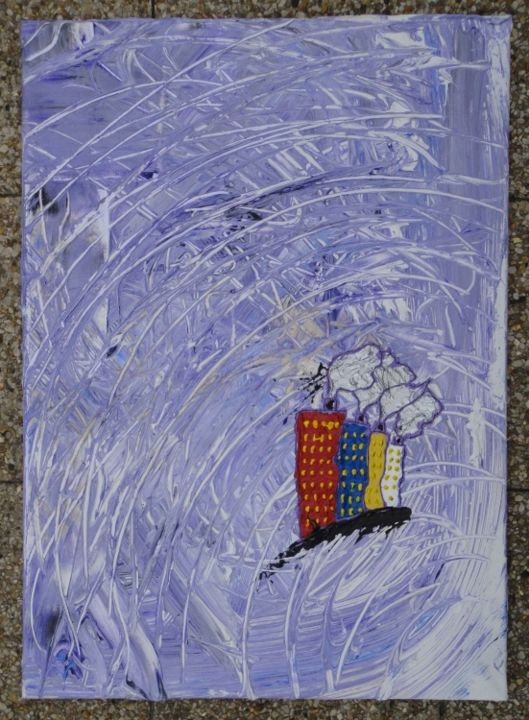 Tornado 1 of 4 - Painting,  70x2x50 cm ©2013 by Sergey KUIMOV -                            Contemporary painting, Tornado, acrylique, tornade