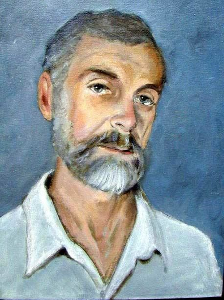 Eng. Mauricio S. - Painting,  20.1x14.6 in, ©1998 by Josef  G. V. Kulig -