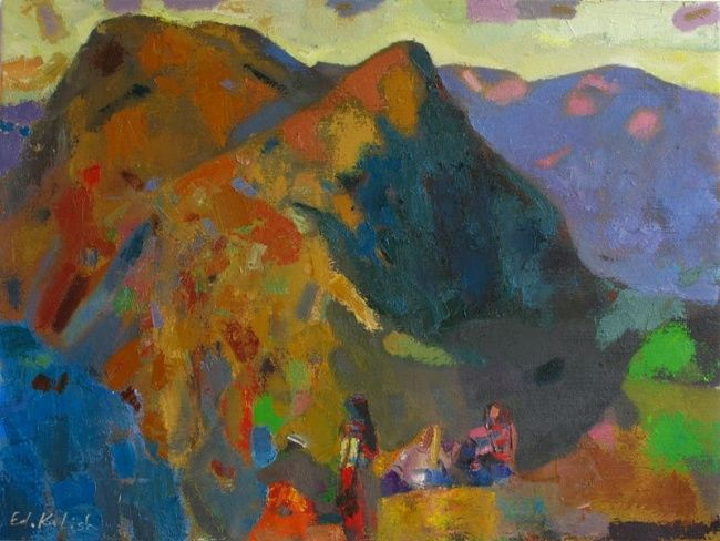 song of mountains - Painting ©2011 by Eduard Kulish -