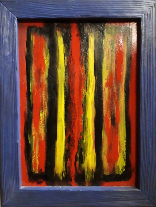 """Painting titled """"Botein"""" by Likos Klee, Original Art, Lacquer"""