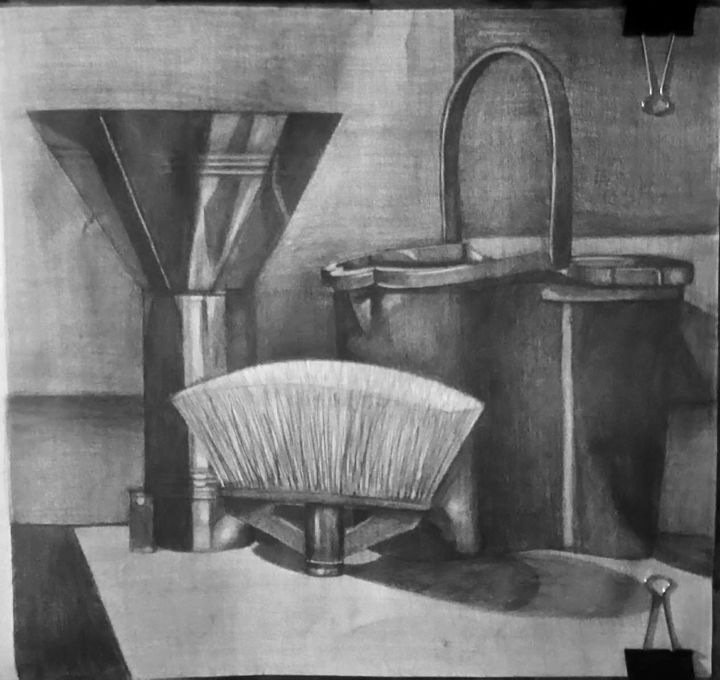 Drawing - Design,  19.7x27.6 in, ©2020 by Κωνσταντινος Κολοβος -                                                              Black and White